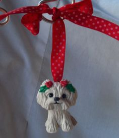 Maltese Christmas Ornament!