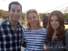 elizabethbanks: Behind the Scenes of Pitch Perfect 2 Had to take a timeout for a quick pic with my buddies.