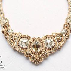 Soutache Necklace, Tassel Earrings, Boho Jewelry, Jewelry Accessories, Jewelry Design, Bead Crochet Rope, Shibori, Beaded Embroidery, Jewelry Making