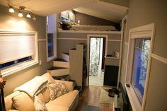 Tiny House: Original design, featuring full sized bathtub, full sofa, staircase and plenty of storage underneath kitchen.