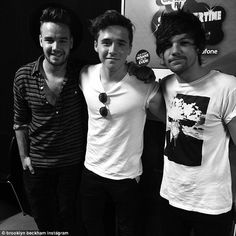 'Great seeing these chaps': Brooklyn Beckham was lucky enough to hang out backstage with O...