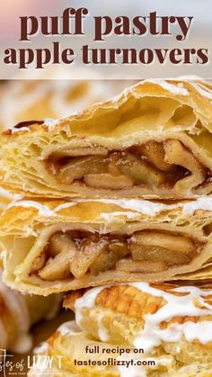 Homemade Apple Pie Filling, Apple Turnovers, Vanilla Glaze, Puff Pastry Sheets, Egg Wash, Salted Butter, Thanksgiving Recipes, Brunch, Desserts