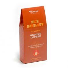 Rich Hazelnut Flavoured Ground Coffee, Whittard of Chelsea