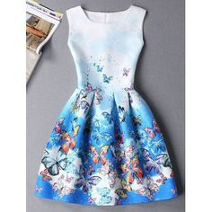 SHARE & Get it FREE | Cute Butterfly Print Ombre Sleeveless Round Neck Women's DressFor Fashion Lovers only:80,000+ Items·FREE SHIPPING Join Dresslily: Get YOUR $50 NOW!