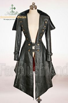 Gothic Aristocrat Knight Embossed Leather Unisex Coat Cape Love this PINNED from steam punk Karen Anne Steampunk Pirate, Steampunk Costume, Steampunk Clothing, Steampunk Fashion, Gothic Fashion, Vintage Fashion, Kei Visual, Gn, Cape Coat