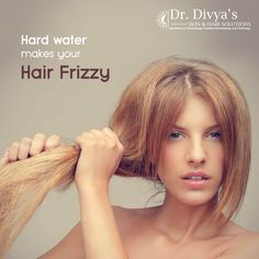 Hard water deposits can damage the outer hair cuticle making your hair appear rough, dry and unruly. #FrizzyHair #HairDamage