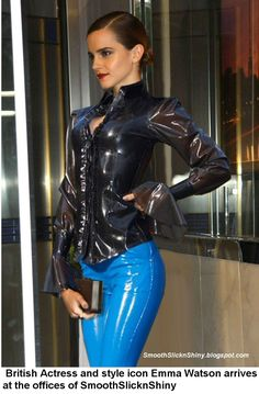 http://andylatex.deviantart.com/art/Emma-Watson-in-Latex-Pants-and-Blouse-544620360