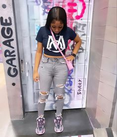Swag Outfits For Girls, Teenage Girl Outfits, Cute Swag Outfits, Girls Fashion Clothes, Teenager Outfits, Dope Outfits, Teen Fashion Outfits, Baddie Outfits Casual, Cute Casual Outfits