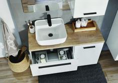 Kwadro Plus Collection na tablicy Bathroom Furniture. Meble Łazienkowe Bathroom Design Inspiration, Bathroom Inspo, Powder Room, Sink, Home Decor, Bedroom, Image, Products, Condo Bathroom