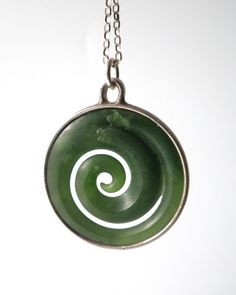New zealand jewellery greenstone pounamu earrings new zealand greenstone koru pendant incased in sterling silver carved in new zealand from nz greenstone mozeypictures Images