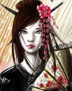 Traditional Japanese Geisha Art | Maquillaje de Fantasía inspiración Geisha