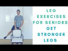 Leg Exercises For Seniors - Knee Exercises - Exercises For Seniors - Health and wellness: What comes naturally Leg Strengthening Exercises, Knee Exercises, Chair Exercises, Aerobic Exercises, Balance Exercises, Stretches, Leg Workout At Home, At Home Workouts, Strong Legs