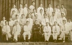 Ateneo de Manila with Rev. John P. Delany and the young Emmanuel Pelaez, 1929 #kasaysayan #pinoy #classpicture Going Down On Him, Pictures Of Christ, Class Pictures, Public Service, Pinoy, Manila, Priest, Over The Years, Movie Posters