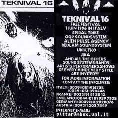 Teknival 1er Juin 1996 Bologne (Italie)