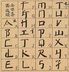 square word calligraphy alphabet