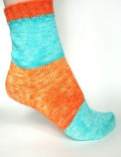 Toe-up sock