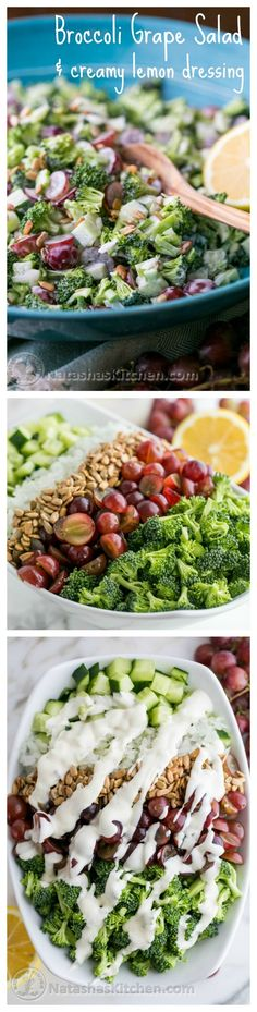 Frugal Food Items - How To Prepare Dinner And Luxuriate In Delightful Meals Without Having Shelling Out A Fortune One Of My Favorite Salads P. It Refrigerates Really Well Natashaskitchen Broccoli Grape Salad, Cucumber Salad, Fruit Salad, Fresh Broccoli, Cabbage Salad, Healthy Brocolli Salad, Vegetarian Broccoli Salad, Asparagus Salad, Skinny Recipes