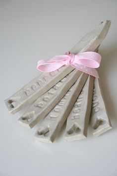 Garden Markers Made Out Of Salt Dough Clay @waterlilywishes