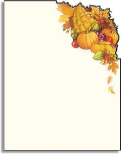 Thanksgiving Stationery Paper | ON SALE! 200 SHEETS AVAILABLE Make an impression with our premium ...