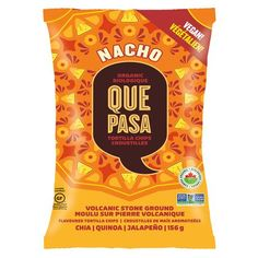 Mr Case Supplier of Que Pasa/Nature's Path Tortilla Chips Nacho - New delivery to your home or office in Toronto, Ontario, Canada. comes in a case of g Gluten Free Tortilla Chips, Gluten Free Tortillas, Vegan Food Brands, Vegan Foods, Sin Gluten, Tortilla Chip Brands, Vegan Chips, Vegan Cheddar Cheese, Packaging Snack