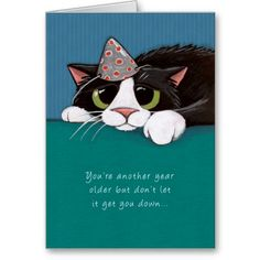 Closer To Purrfection Cat Birthday Card Created By LisaMarieArt Greetings Wishes
