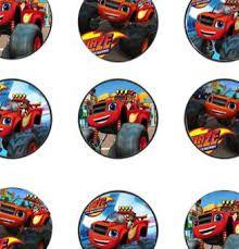 Resultado de imagen de blaze and the monster machines pictures for printing cup cakes