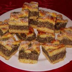Almás-mákos rácsos sütemény