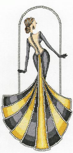 Grand Entrance from the Elegant Ladies series designed by Yvette Jordan.