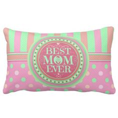 Best Mom Mother's Day Lumbar Pillow @zazzle
