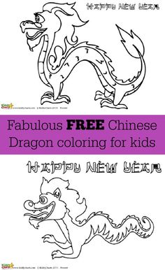Four perfect chinese dragon coloring sheet for Chinese New Year activities for kids. These four designs are lovely, and really capture the spirit of Chinese New Year for everyone. So give them a go!