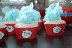 Dr. Suess Twin Baby Shower.  Cute!