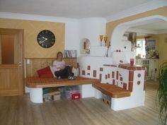 Ofen Weiss - Kachelofen - Grundofen Fours, Corner Desk, Shabby Chic, Room Ideas, Loft, Living Room, Furniture, Home Decor, Fire Places