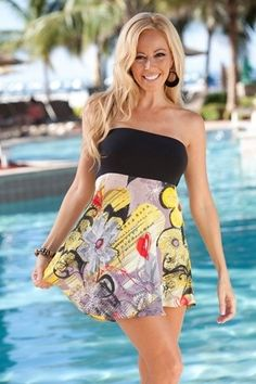 Tropical Tube Top- Dress/cover Up