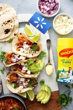 Chicken Tinga Tacos (Tinga de Pollo) start with tender shredded chicken, smothered in a flavorful and smoky roasted-tomato and chipotle sauce. This easy Chicken Tinga recipe is the perfect addition to any meal, from busy weeknight dinners to fabulous holiday meals! #sponsored #Maggi #chicken #tacos #Mexican #recipe