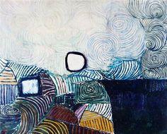 Spiral Development in Green Violet Blue & Gold - Victor Pasmore