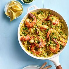 Indian Spiced Rice with Shrimp and Peas Recipe - Delish