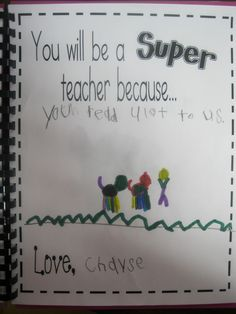 Gift for student teachers. Have your students write the most ...