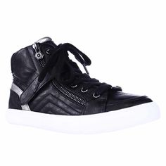 G by GUESS Ojay High Top Fashion Sneakers - Black