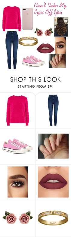 """""""Can't take my eyes off you"""" by peggy-hamilton on Polyvore featuring Topshop, River Island, Converse, Dolce&Gabbana and Cartier"""