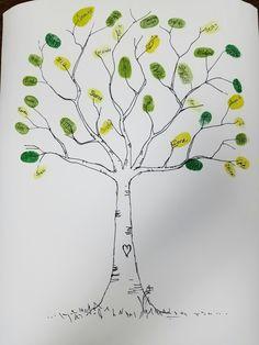 Finger Print thank you tree