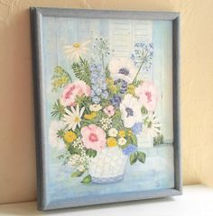 A personal favorite from my Etsy shop https://www.etsy.com/listing/476664595/vintage-wood-framed-original-painting-of