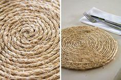 Make rope table mats