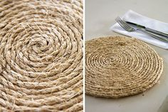 Tara Dennis - Rope Table Mats - add a touch of elegance to your table with these easy to make mats