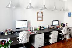 Nina & Martina's Functionally Fun Office DeskTops | Apartment Therapy