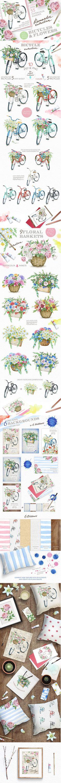 商用可でクリエイティブ!1000個の手描きイラスト素材完全キット The Creative Designer's Complete Illustration…