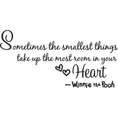 Sometimes the smallest things take up the most room in your heart.