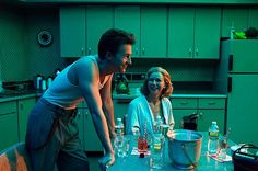 Birdman Behind the Scenes: Edward Norton; Naomi Watts.