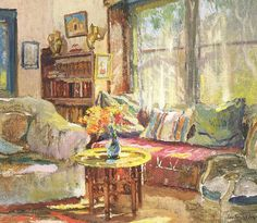 Cottage Interior by Colin Campbell Cooper. Still one of my most favourite paintings.