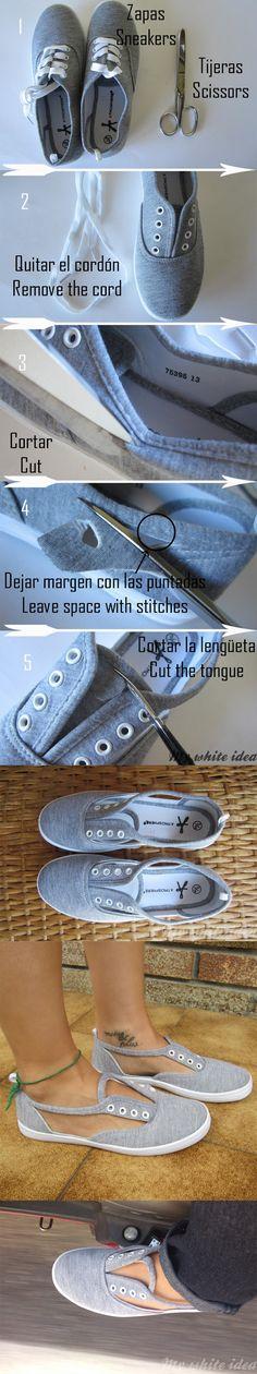 Originales zapatillas recortadas