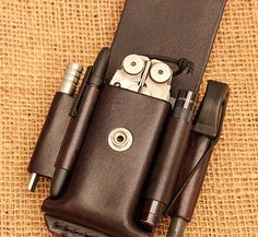 Browse unique items from ivanleather on Etsy, a global marketplace of handmade, vintage and creative goods. Tandy Leather, Cow Leather, Leather Gifts, Leather Craft, Leatherman Wave, Fisher Space Pen, Edc Gadgets, Edc Everyday Carry, Survival